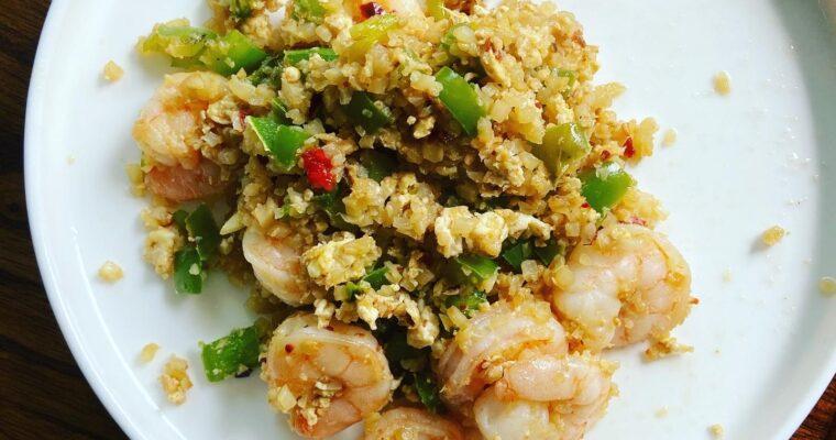 #Fakeout Shrimp and Riced Cauliflower